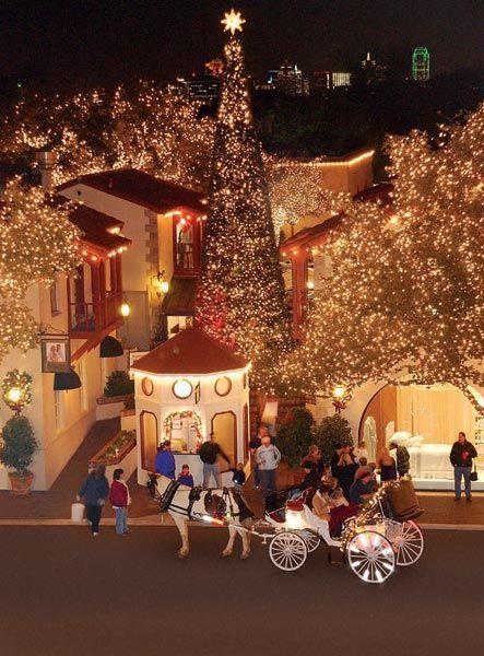 Highland Park Village Christmas Lights in Dallas, Texas