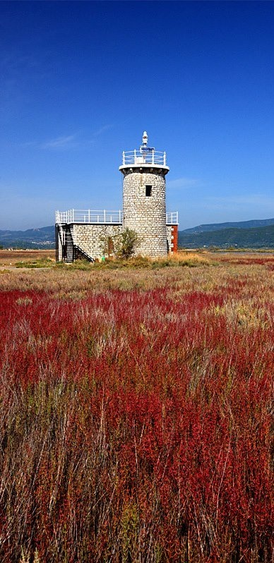 The lighthouse of Koprena, Amvrakikos gulf, Arta, Epirus, Greece / photo by Hercules Milas