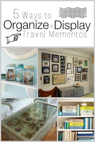 5 Ways to Organize and Display Travel Mementos | Tipsaholic.com #travel #display…