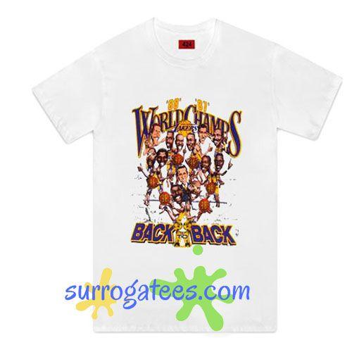 LA Lakers Caricature T-Shirt