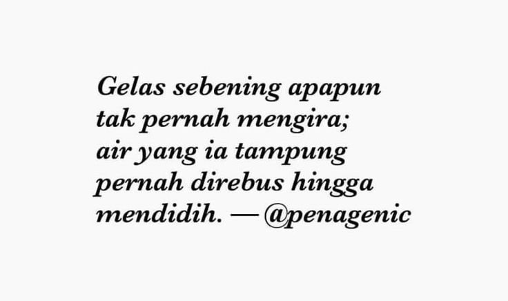 Sajak Pendek oleh @penagenic