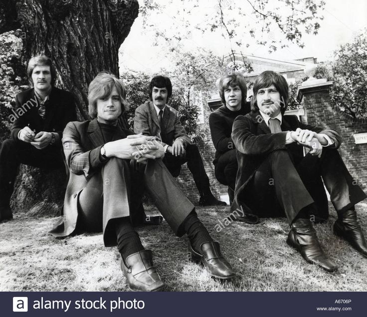 Moody Blues Uk Group About 1967 From Left Mike Pinder, Justin ...