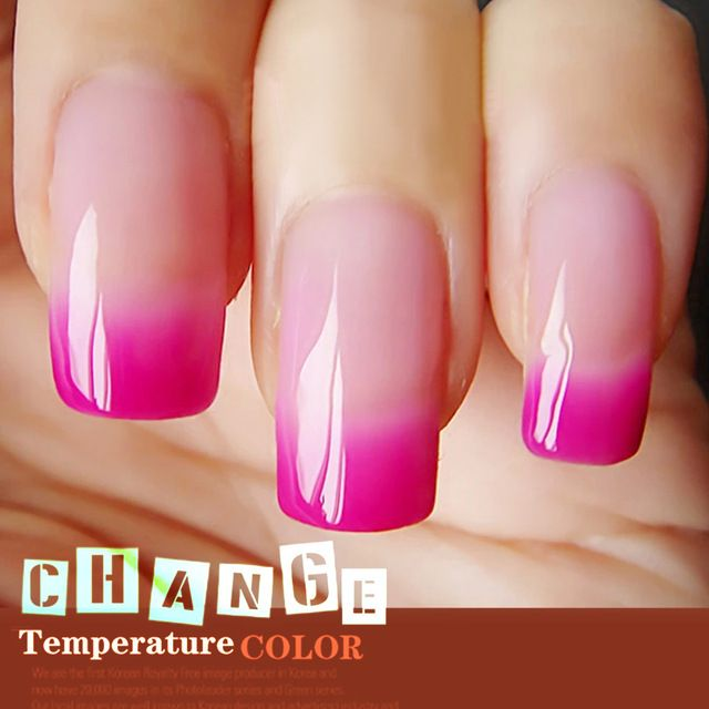 Verntion Thermo Nail Polish Gel Varnishes Soak Off Hot Mood Temperature Change Color Led Uv Nails Tools Pinterest