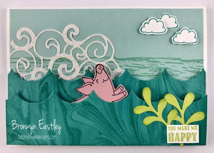 This Little Piggy, The Stamp Review Crew, Slider Card, #addinktivedesigns