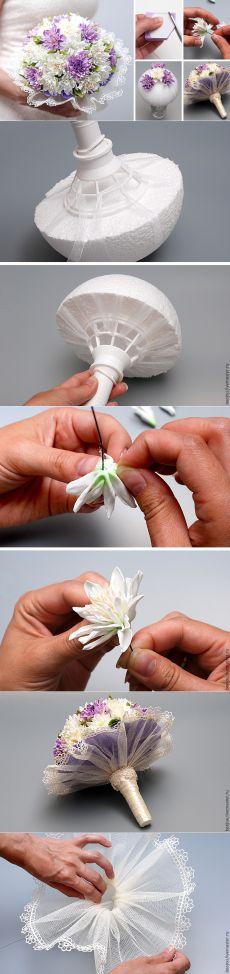 Создаем из фоамирана букет невесты - Ярмарка Мастеров - ручная работа, handmade