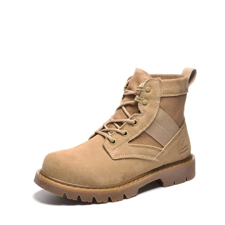 74.62$  Buy now - http://alibww.worldwells.pw/go.php?t=32697189339 - 2016  Male Work Boots Short Shoes Tide 74.62$