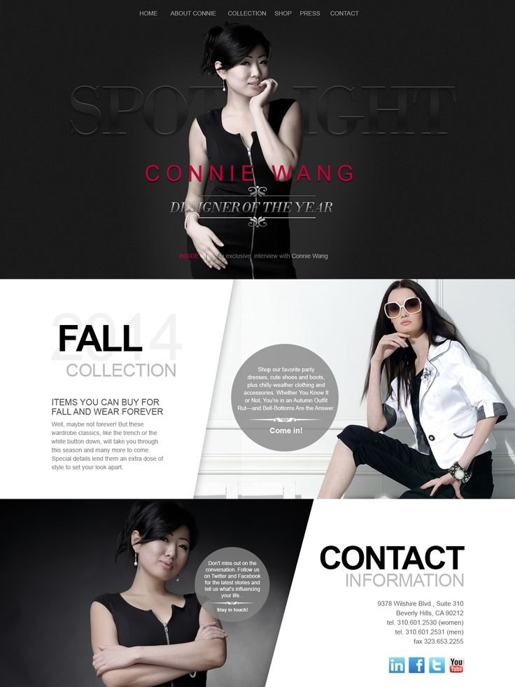 Fashion Website Design Inspiration | Brand Building | Pinterest ...