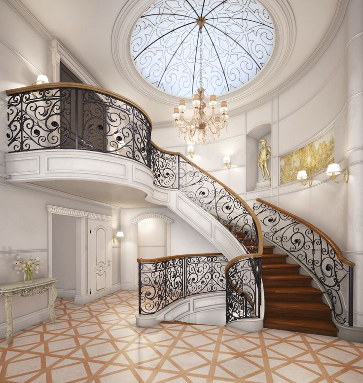 Stairs. 3d max, vray, photoshop