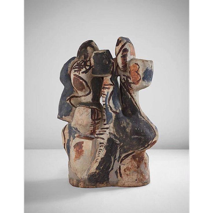 From yesterday's Phillips auction (@phillipsauction). #Repost @peterheldappraisals  ・・・  BAM! Peter Voulkos Rondena sold today for $915,000 @phillipsauction design sale #petervoulkos #voulkos #ceramics #contemporaryart