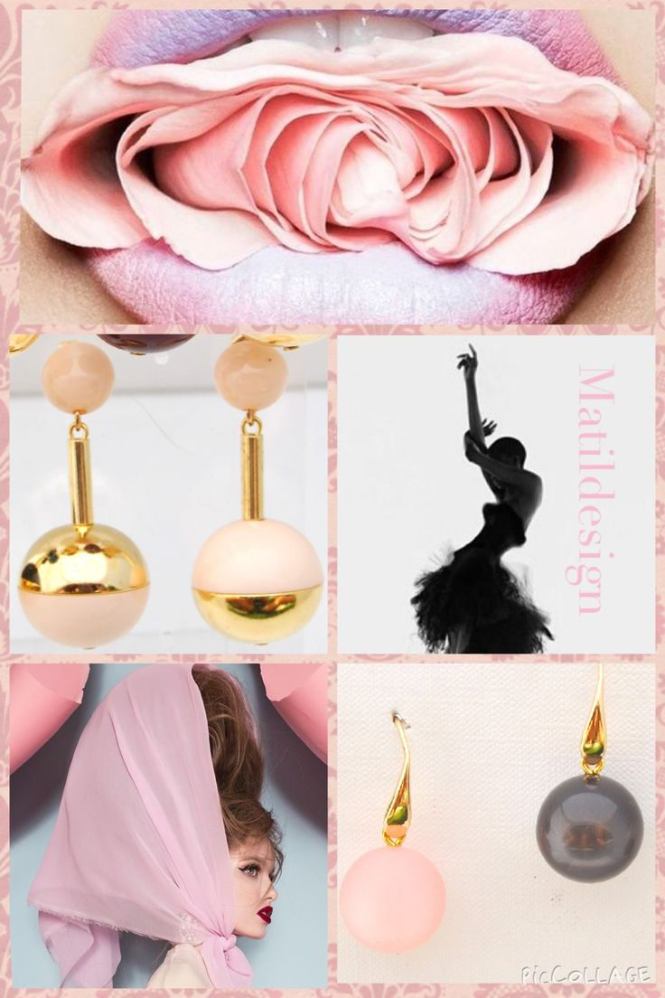 Beautiful earrings, pink, orecchini made in Italy, glamour look, Matildesign, pink accesories,