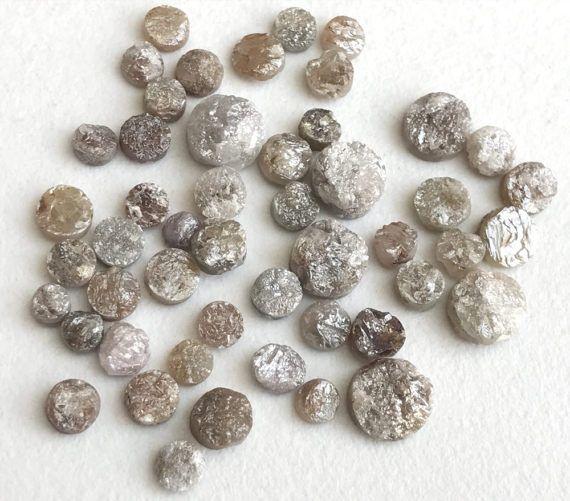 WHOLESALE 10 Pcs Pink Grey Rough Diamond Discs by gemsforjewels