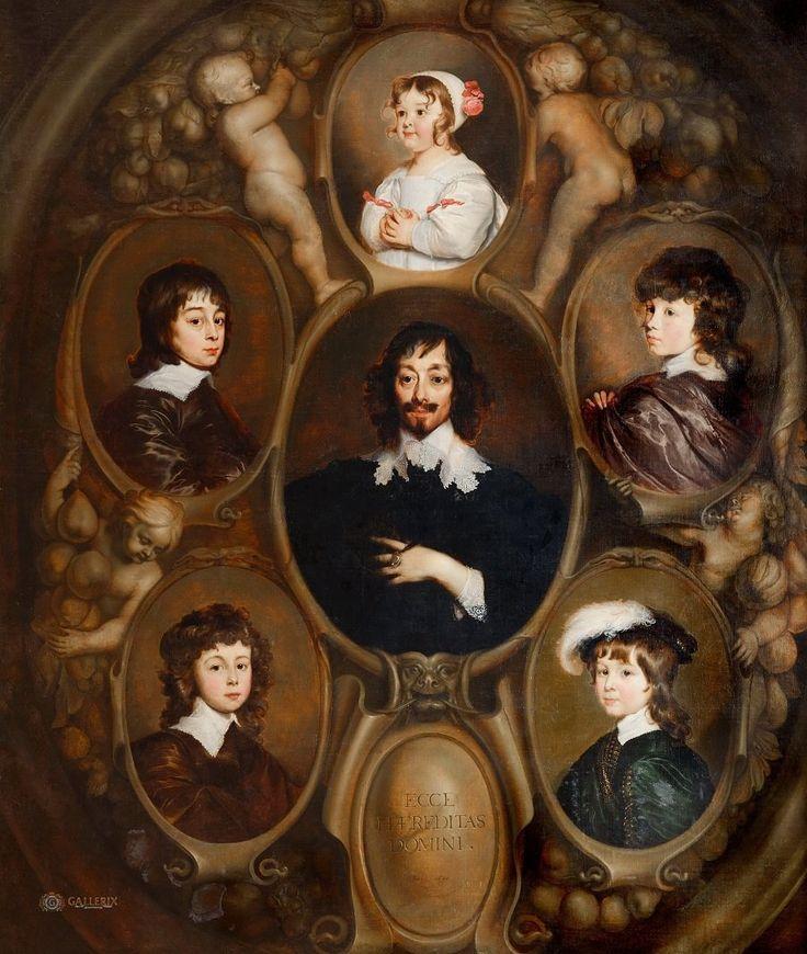 Ханнеман, Адриан - Портрет Константина Хейгенса (1596-1687) и его пятерых детей. Маурицхёйс, Гаага