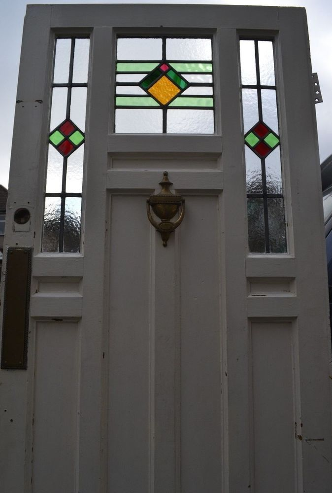 Art Deco 1920s 30s Leaded Light Stained Glass Front Door R720 Delivery Glass Front Door Stained Glass Door Art Deco