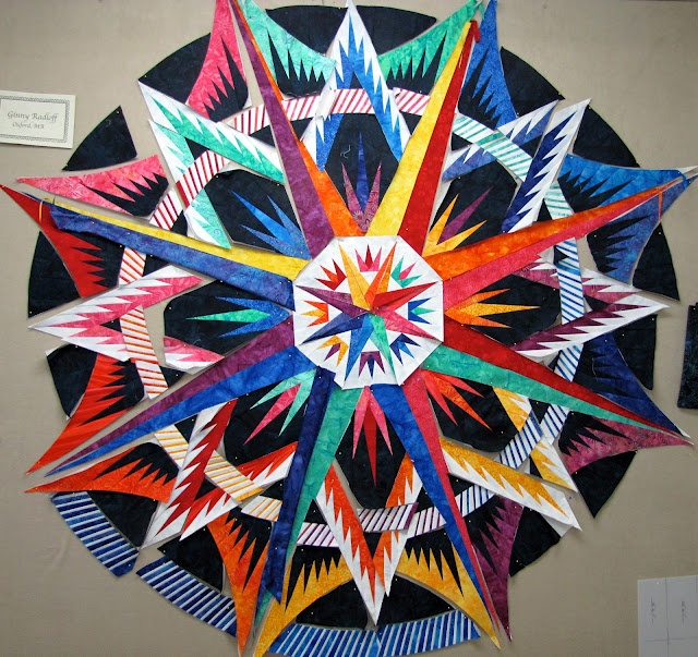 Certified Instructor Ginny Radloff's Primary Color's Mariner's Compass ~ Picture by Jackie Kunkel