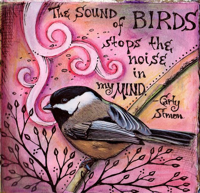 The sound of birds stops the noise in my mind. [Carly Simon]