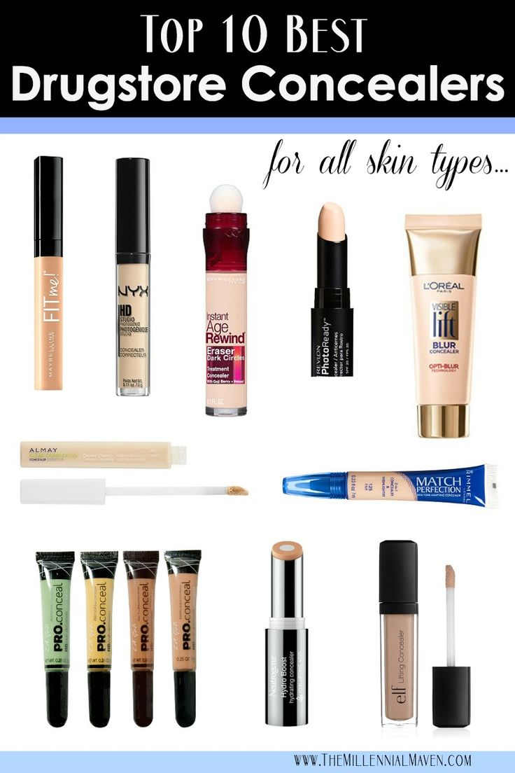 Top 10 BEST Concealers Found at the Drugstore! --drugstore concealers