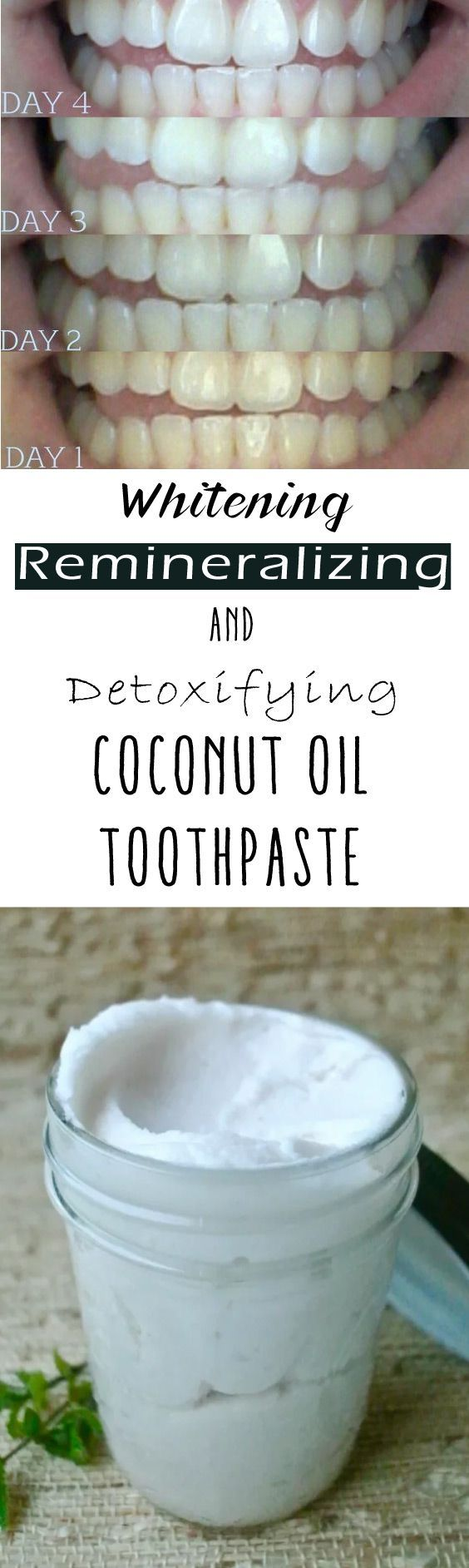 DIY Whitening, Remineralizing And Detoxifying Coconut Oil Toothpaste