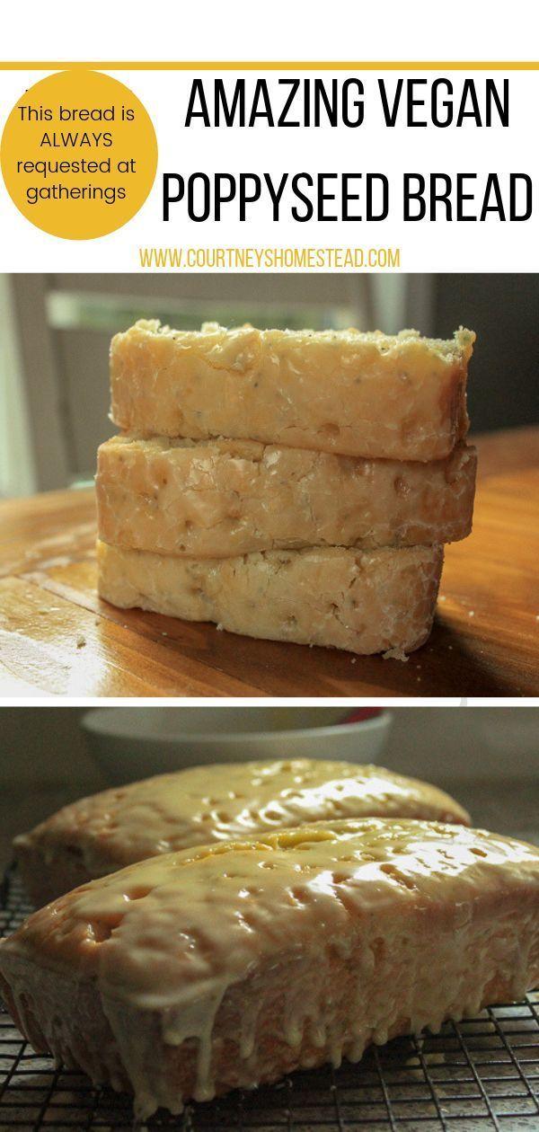 Vegan Poppy Seed Bread with Glaze –