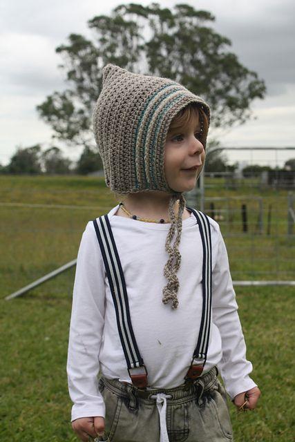 Ravelry: emmamoon's joshua bonnet  Surface crochet kids pixie bonnet
