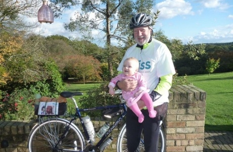 Alex McWhirter cycled a round trip of 60 miles for Bliss, after receiving support when his granddaughter was born at 29 weeks http://www.bliss.org.uk/2012/10/24/the-bliss-bike-off/