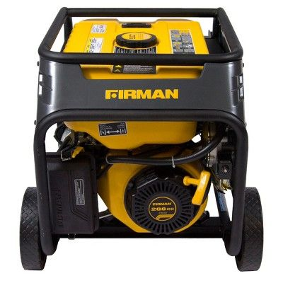 3650/4550W Hybrid Series Dual Fuel Generator With Recoil Start-Non Carb Compliant - Black - Firman Power, Durable