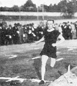 Paavo Nurmi, the great Finnish runner. The athletic center at Finlandia University in my hometown is named for him.