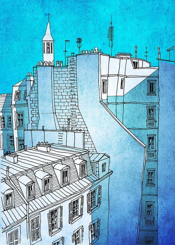 81 best images about Arts 2 on Pinterest Watercolors, Indigo and - comment dessiner une maison en 3d