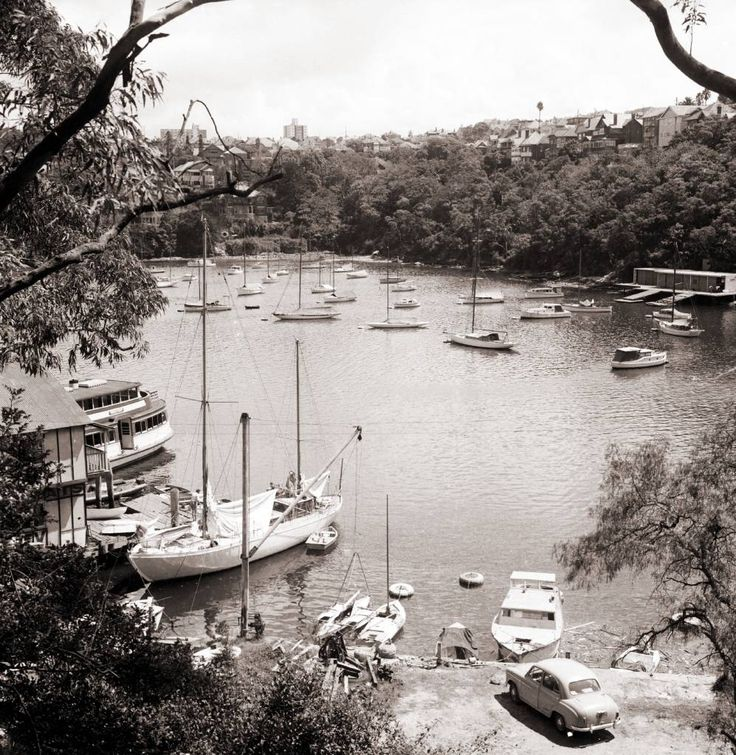 Mosman Bay 26 April 1962. This collection of historical photographs were taken by amateur photographer Fred Saxon. Fred Saxon lived at 24 Queen Street Mosman from about 1949 - 1963.