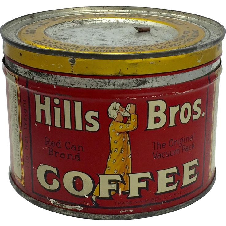 For sale is a vintage Hills Brothers coffee tin from 1932. The tin shows off it's beautiful colors and nostalgic appeal. The tin has minor scratches