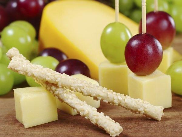 brocheta de fruta y queso ideas