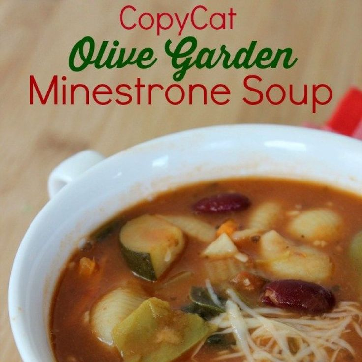 Since it is quite chilly today this Copycat Olive Garden Minestrone Soup Recipe will be perfect for us to enjoy with our CopyCat Olive Garden Salad and...