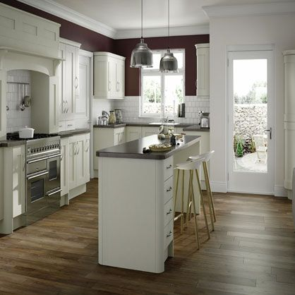 Buckingham Mussel Ash Matt Finish Replacement Kitchen Doors | Made to measure kitchen doors  #ReplacementKitchenDoors #Topdoors