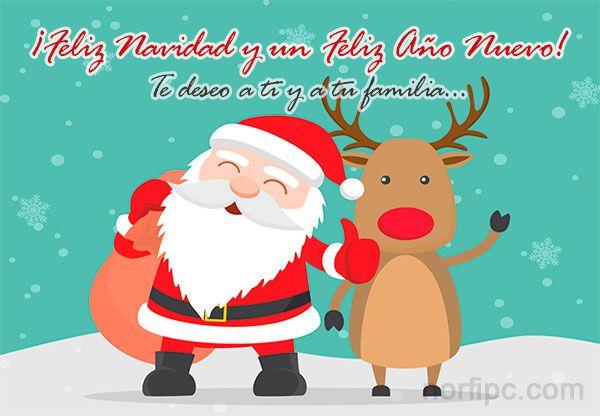 ¡Feliz Navidad y un Feliz Año Nuevo! Te deseo a ti y a tu familia