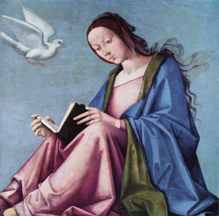 sancta maria mater dei ora pro nobis | Lorenzo Costa - La anunciación.: