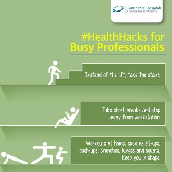#HealthHacks for busy people with busy schedule all the day!