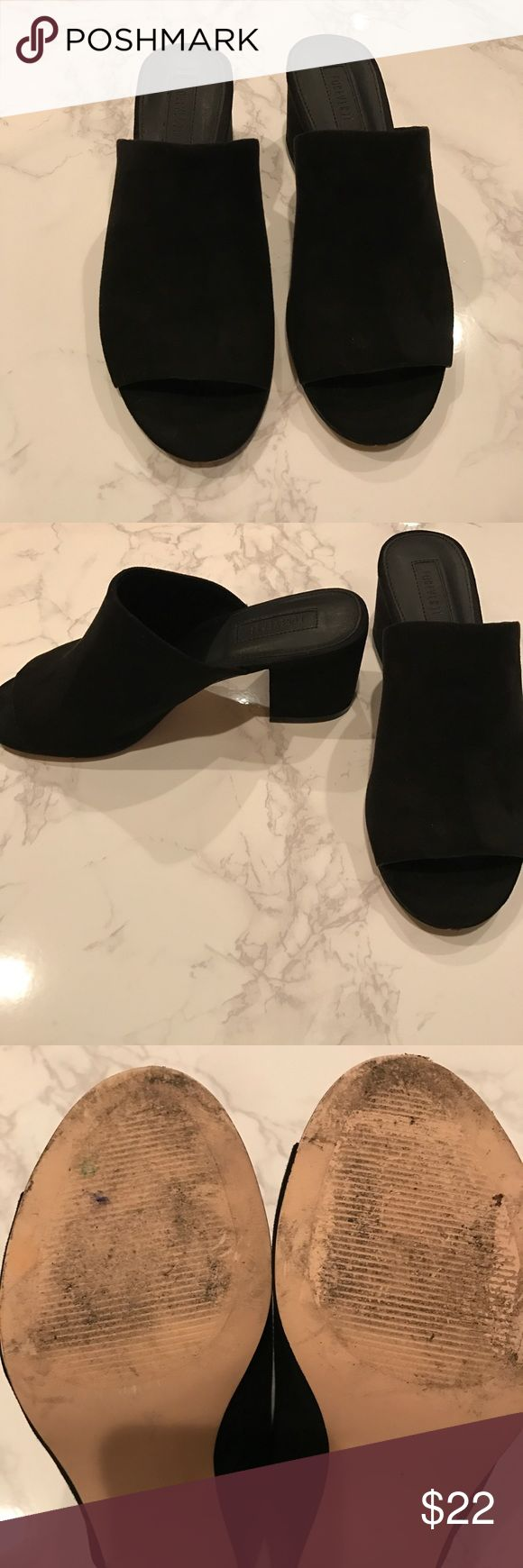 Black open toe mules size 7 Forever 21 black open toe mules size 7 Shoes Mules & Clogs