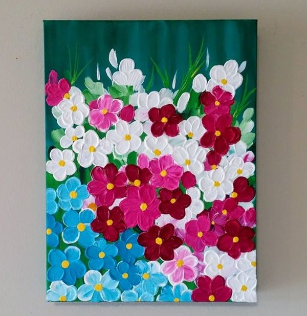 40 Easy Acrylic Canvas Painting Ideas Abstract Flower Painting