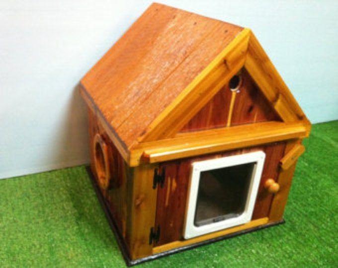 Heated Cat Pod House 2 Doors Ships Next Bus Day Etsy Outdoor Cat House Pod House Cat House