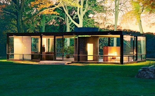 Primer pritzker 1979 philip johnson con la casa de for Casa minimalista de mies van der rohe