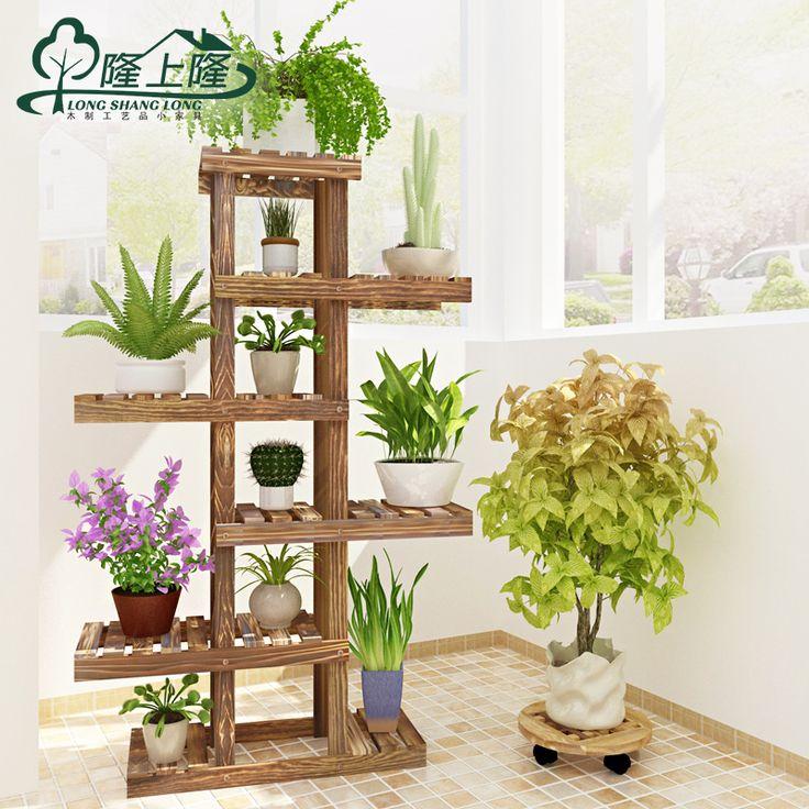 Largo s lido de madera p rgolas de largo carnosas macetas for Articulos para decorar jardines