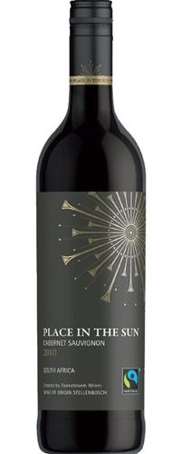 Place in the Sun Cabernet Sauvignon 2010 - R57 a bottle.  tasting notes  Colour: Deep, dark, dense concentrated colours.  Aroma: Succulent red and black berries on the nose.  Palate: A big-hearted wine with a refreshing juicy berry palate, tempered by gentle oaking for 12 months.