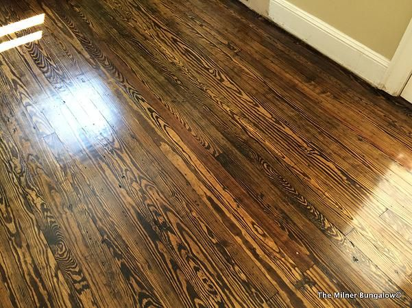 Pine Floors With Dark Walnut Stain The Milner Bungalow