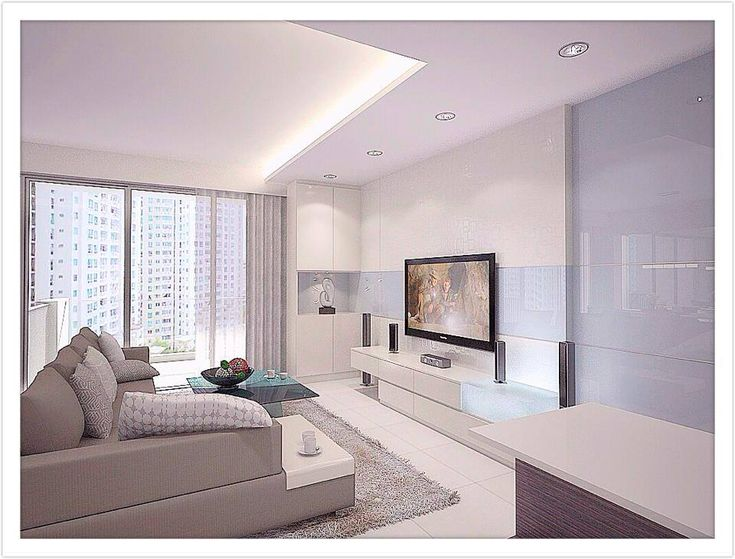 Simple Modern Living Room Design: Simple Clean All White Design