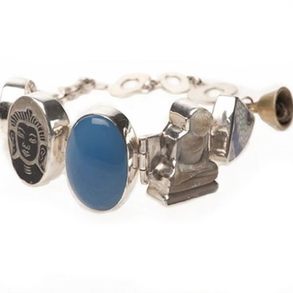 Lucky Buddha sieraden | Studio Art Styles | Armband | Lucky Buddha bracelet blue onyx | handmade in Nepal