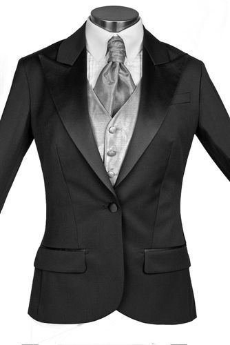 black tux for women | Tuxedos for Women ,Woman Formal Wear, Womens Classic Black Wool Tuxedo ...