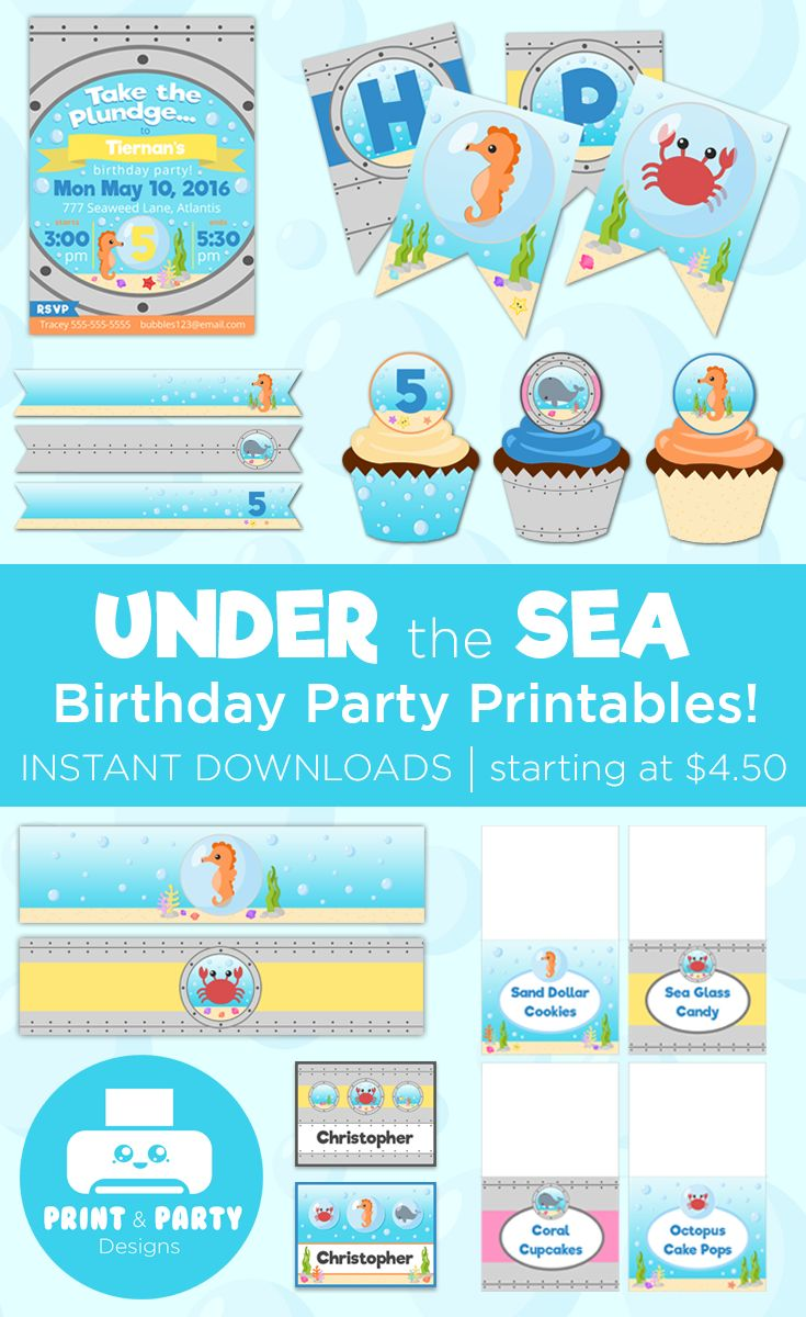 75 best mermaid under the sea themed birthday party ideas images