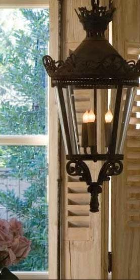 Antique Iron Lantern Via Chateau Domingue