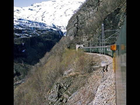 Flåmsbana, Flam Railway, Die Flåmsbahn - with pictures from Flåmsdalen - YouTube