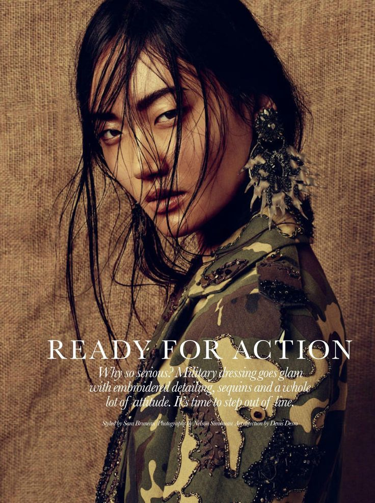 """""""Ready for Action"""" Ashley Foo by Nelson Simoneau for ELLE Canada April 2015"""