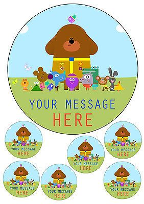 """Hey duggee #personalised cake topper 7.5"""" #round and 6 #toppers, a4 icing sheet, View more on the LINK: http://www.zeppy.io/product/gb/2/321969457642/"""